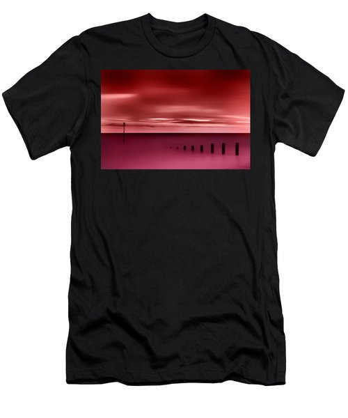 Long Red Sunset Men's T-Shirt (Athletic Fit)