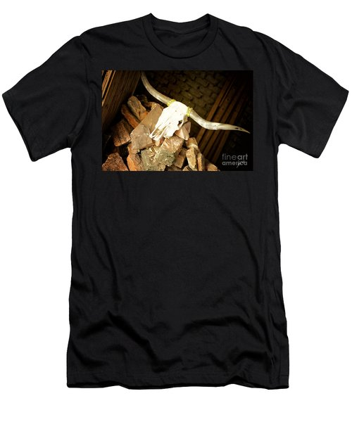 Men's T-Shirt (Slim Fit) featuring the photograph Longhorn by Erika Weber