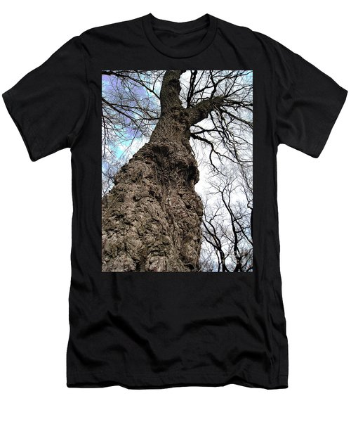 Men's T-Shirt (Slim Fit) featuring the photograph Look Up Look Way Up by Nina Silver