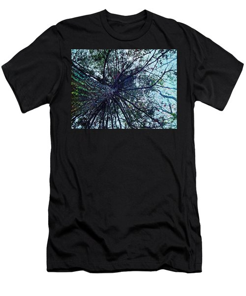 Men's T-Shirt (Slim Fit) featuring the photograph Look Up Through The Trees by Joy Nichols