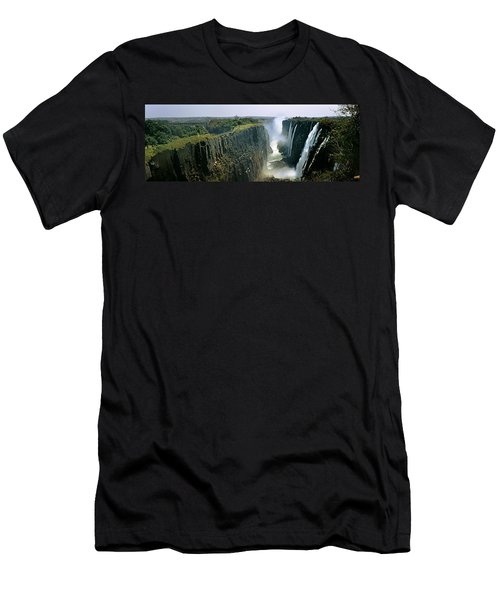 Looking Down The Victoria Falls Gorge Men's T-Shirt (Athletic Fit)