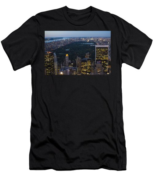 Looking From Top Of The Rock Men's T-Shirt (Athletic Fit)