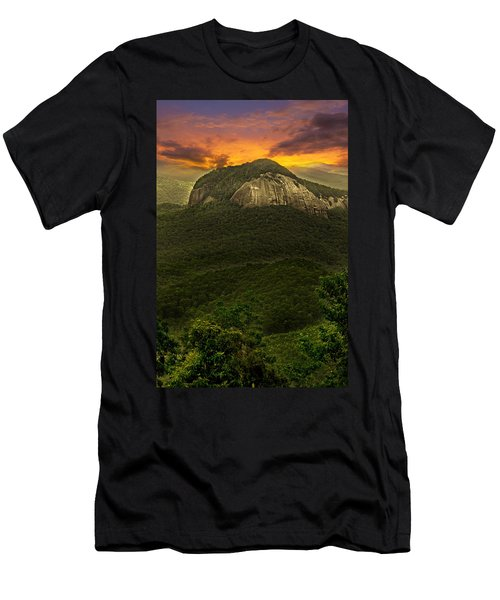Looking Glass Rock North Carolina  Men's T-Shirt (Athletic Fit)