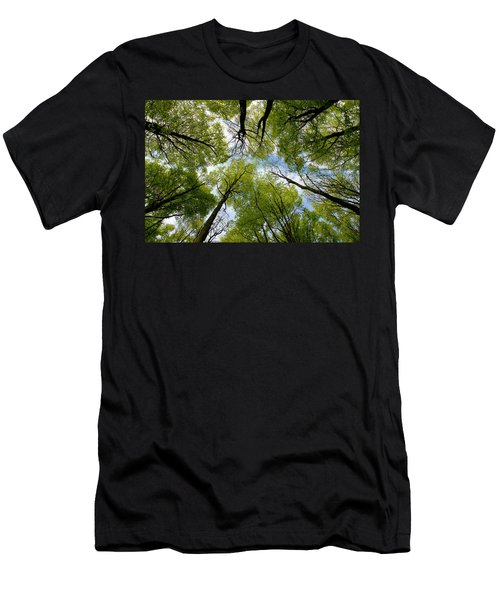 Men's T-Shirt (Slim Fit) featuring the digital art Looking Up by Ron Harpham