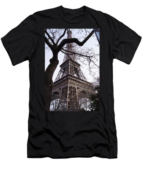 Looking Up To Eiffel  Men's T-Shirt (Athletic Fit)