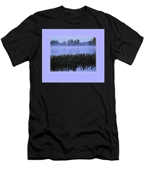 Loon On A Misty Morning At Parker Men's T-Shirt (Athletic Fit)