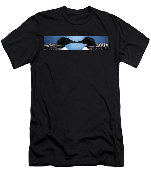 Loons Men's T-Shirt (Slim Fit) by Pat Erickson