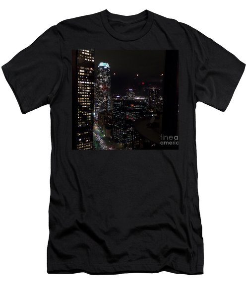 Los Angeles Nightscape Men's T-Shirt (Athletic Fit)