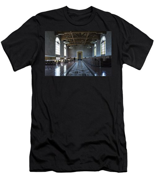 Los Angeles Union Station Original Ticket Lobby Men's T-Shirt (Athletic Fit)