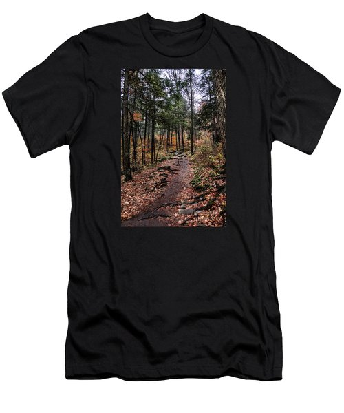 Men's T-Shirt (Slim Fit) featuring the photograph Lost In Thought On The Blue Ridge Parkway Trail by Debbie Green