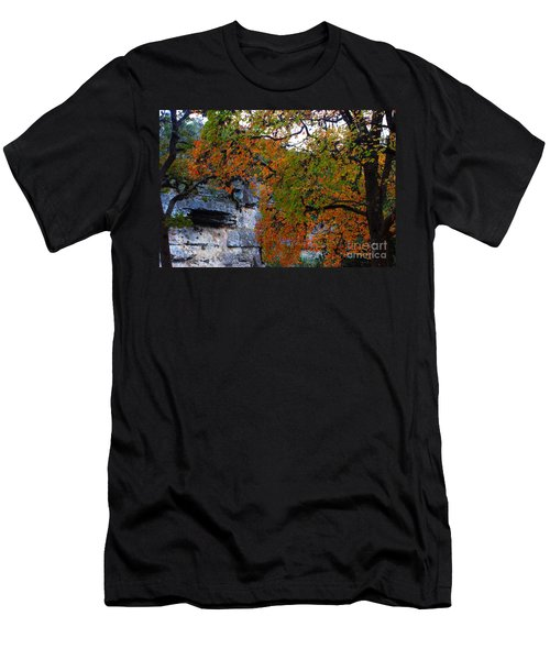 Fall Foliage At Lost Maples State Natural Area  Men's T-Shirt (Athletic Fit)