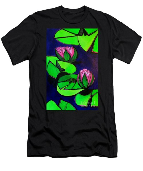 Lotus 2 Botanical Flowers Men's T-Shirt (Athletic Fit)