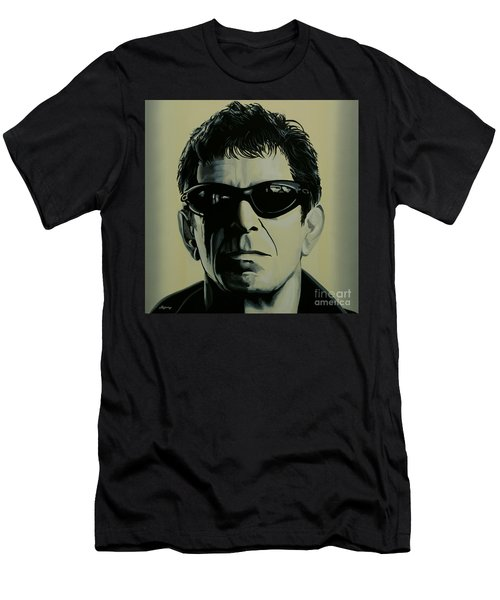 Lou Reed Painting Men's T-Shirt (Slim Fit) by Paul Meijering