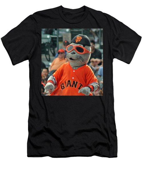 Lou Seal San Francisco Giants Mascot Men's T-Shirt (Athletic Fit)