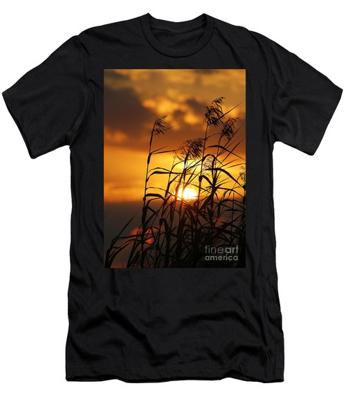Men's T-Shirt (Slim Fit) featuring the photograph Louisiana Marsh Sunset by Luana K Perez