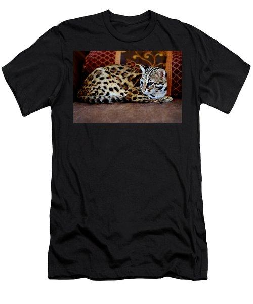 Lounging Leopard Men's T-Shirt (Athletic Fit)