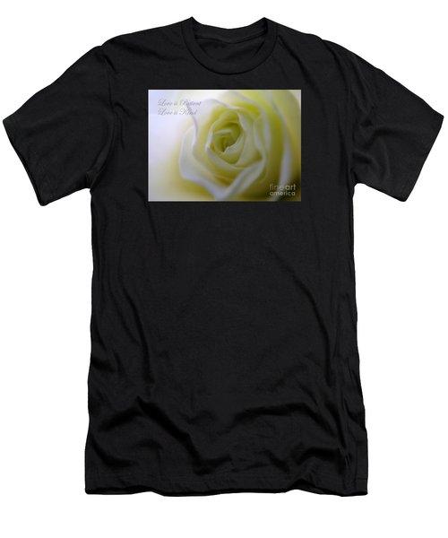 Love Is Patient Men's T-Shirt (Slim Fit) by Patti Whitten