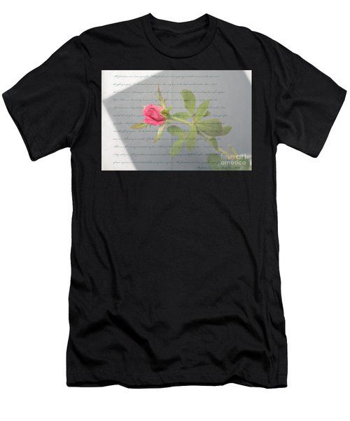 Love Letter Lyrics And Rose Men's T-Shirt (Athletic Fit)