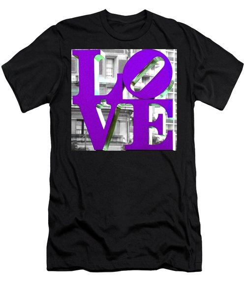 Love Philadelphia Purple Men's T-Shirt (Athletic Fit)