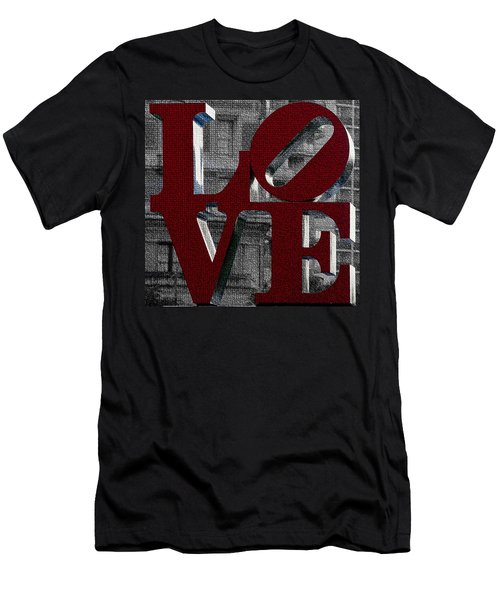Love Philadelphia Red Mosaic Men's T-Shirt (Athletic Fit)