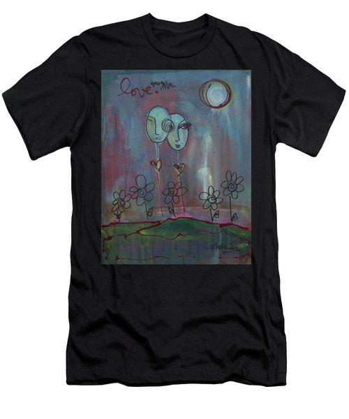 Love You Give Lollipops Men's T-Shirt (Athletic Fit)