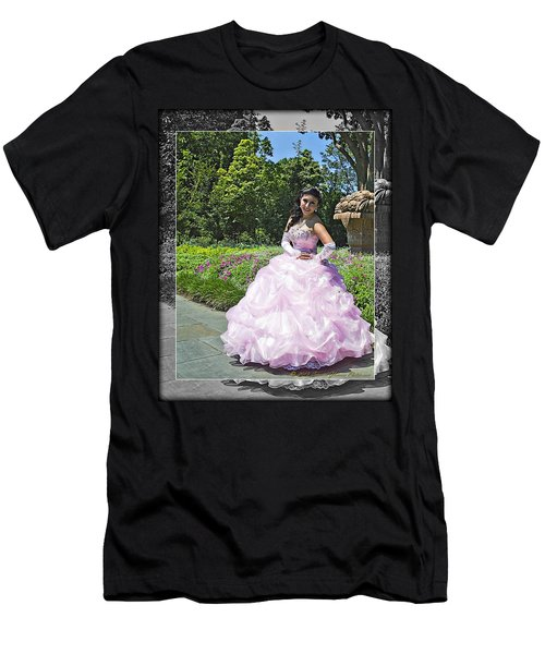 Lovely Lady At The Dallas Arboretum Men's T-Shirt (Slim Fit) by Walter Herrit
