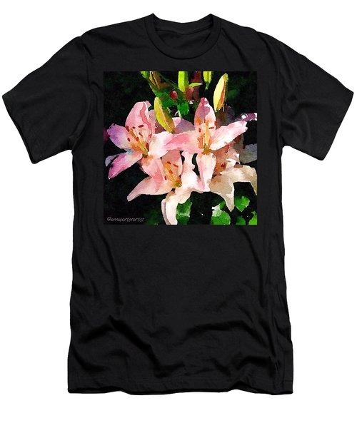 Lovely Lilies Digital Painting Men's T-Shirt (Athletic Fit)