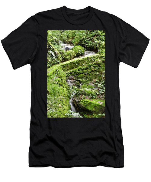 Lovely Waterfall Men's T-Shirt (Athletic Fit)