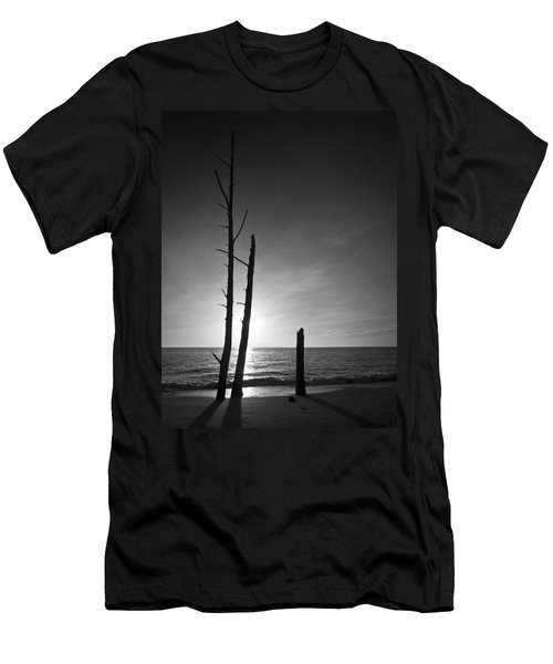 Lovers Key Sunset Black And White One Men's T-Shirt (Athletic Fit)