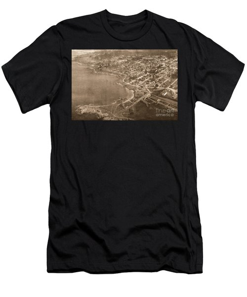 Aerial Of Lovers Point And Pacific Grove California July 10 1906 Men's T-Shirt (Athletic Fit)