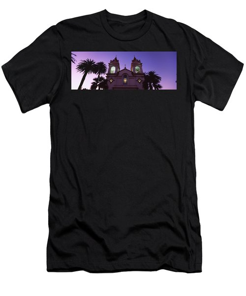 Low Angle View Of A Cathedral Lit Men's T-Shirt (Athletic Fit)