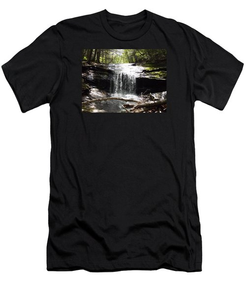 Lower Chapel Brook Falls Men's T-Shirt (Athletic Fit)