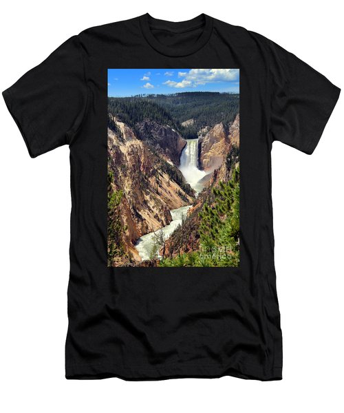 Lower Falls Of Yellowstone Men's T-Shirt (Athletic Fit)