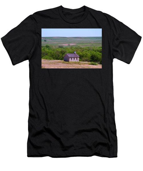 Lower Fox Creek Schoolhouse In The Flint Hills Of Kansas Men's T-Shirt (Athletic Fit)