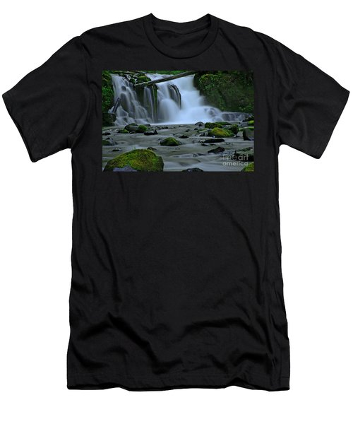 Lower Mcdowell Creek Falls Men's T-Shirt (Athletic Fit)