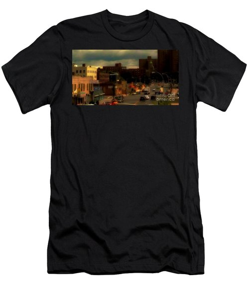 Men's T-Shirt (Slim Fit) featuring the photograph Lowering Clouds by Miriam Danar