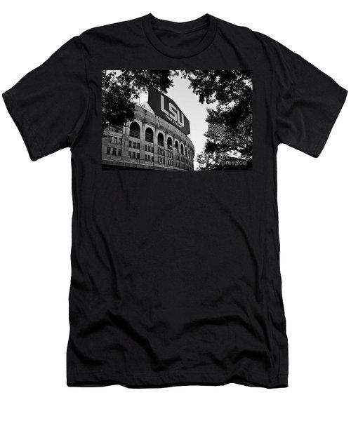 Lsu Through The Oaks Men's T-Shirt (Slim Fit) by Scott Pellegrin