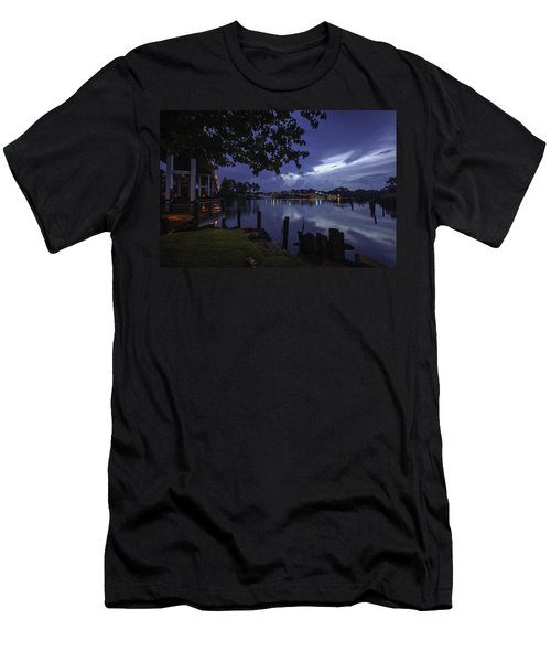 Men's T-Shirt (Slim Fit) featuring the digital art Lu Lu S Before The Storm by Michael Thomas