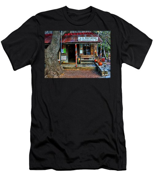 Luckenbach Texas Men's T-Shirt (Slim Fit) by Judy Vincent
