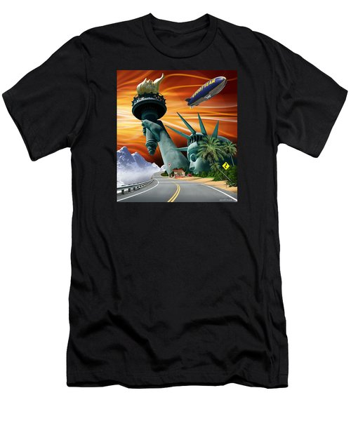 Men's T-Shirt (Slim Fit) featuring the digital art Lucky Star by Scott Ross