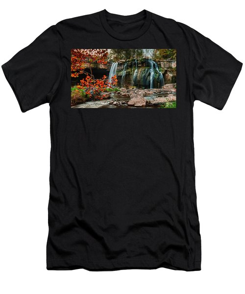 Ludlowville Falls Men's T-Shirt (Athletic Fit)