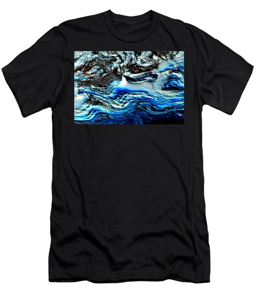 Men's T-Shirt (Slim Fit) featuring the digital art Lumenittoral by Richard Thomas