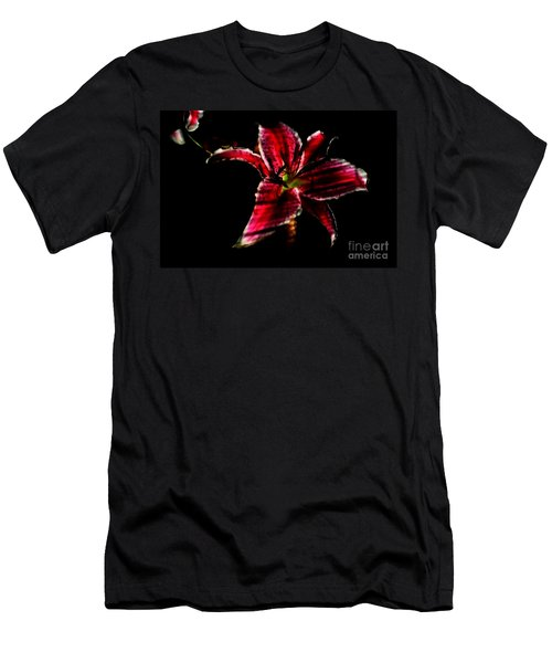 Men's T-Shirt (Slim Fit) featuring the photograph Luminet Darkness by Jessica Shelton