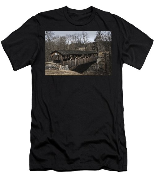Luther's Mill Covered Bridge Men's T-Shirt (Athletic Fit)