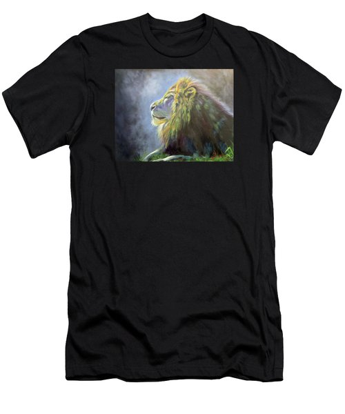 Lying In The Moonlight, Lion Men's T-Shirt (Athletic Fit)