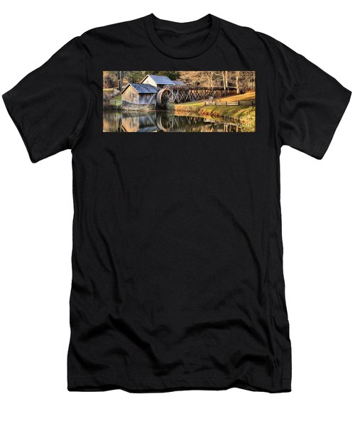 Mabry Grist Mill Fall Panorama Men's T-Shirt (Athletic Fit)