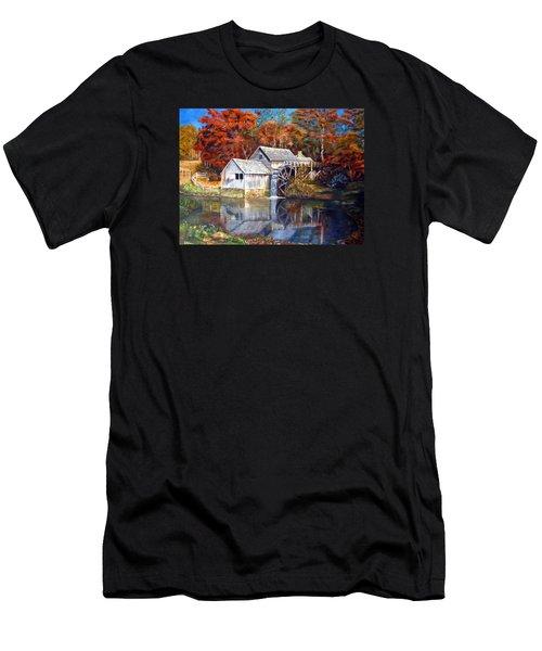 Mabry Mill Blue Ridge Virginia Men's T-Shirt (Athletic Fit)