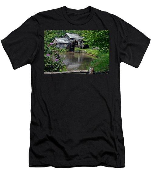 Mabry Mill In May Men's T-Shirt (Slim Fit) by John Haldane