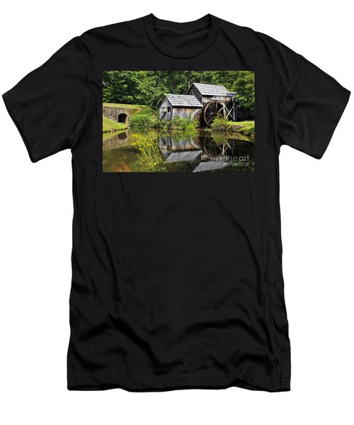 Mabry Mill In Virginia Men's T-Shirt (Athletic Fit)
