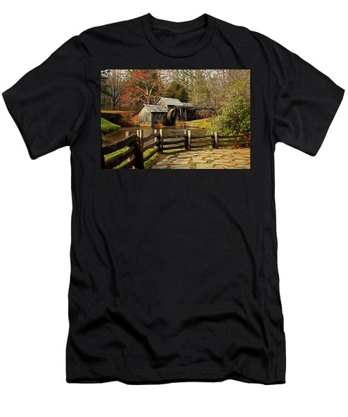 Men's T-Shirt (Slim Fit) featuring the photograph Mabry Mill by Suzanne Stout
